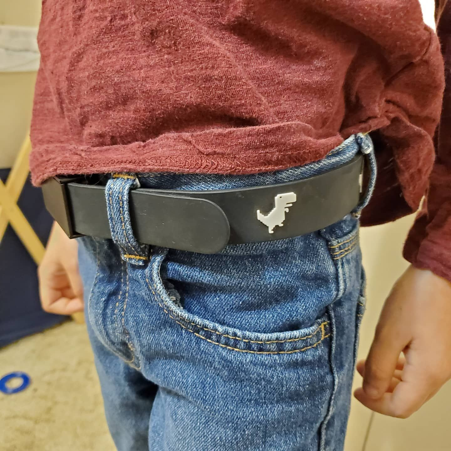 "My little guy loves his belt from Bentley Blake. ""It's the"