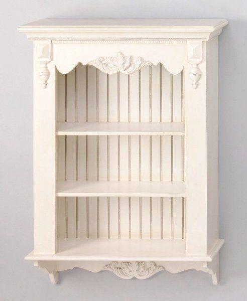 Victorian Style Cottage Chic Beadboard Wall Shelf