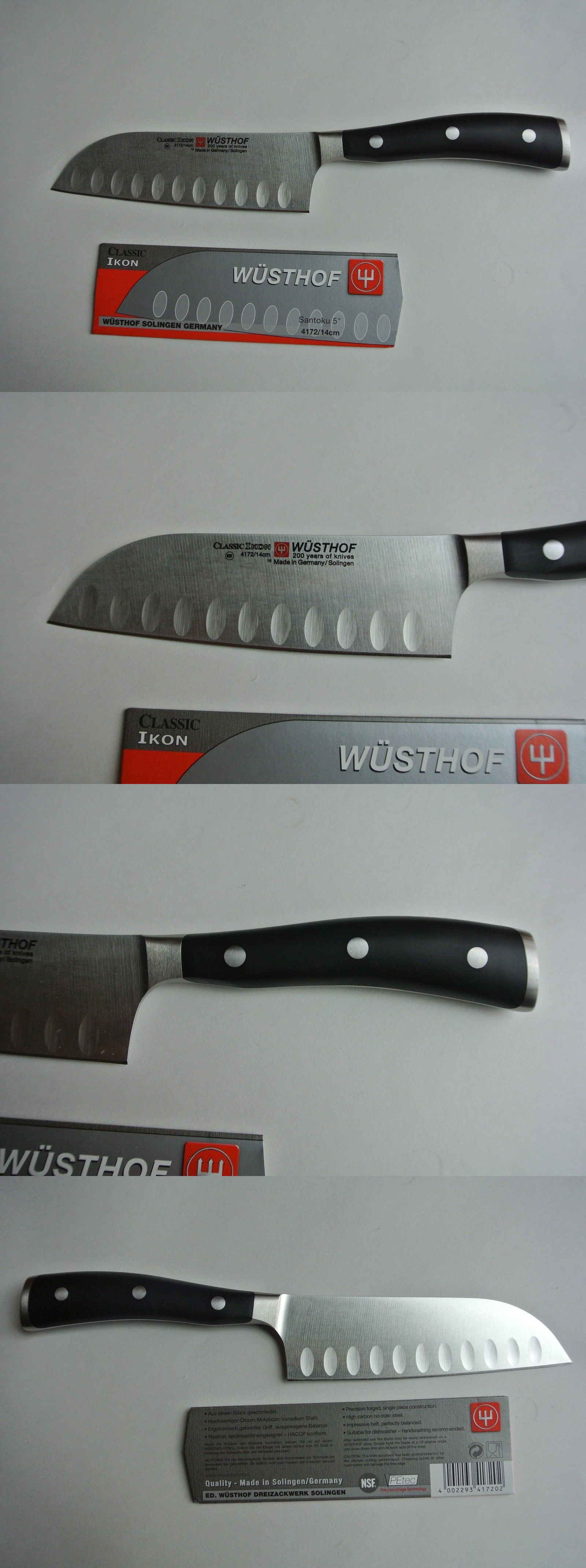 kitchen and steak knives new wusthof classic ikon 5 nsf petec santoku knife model