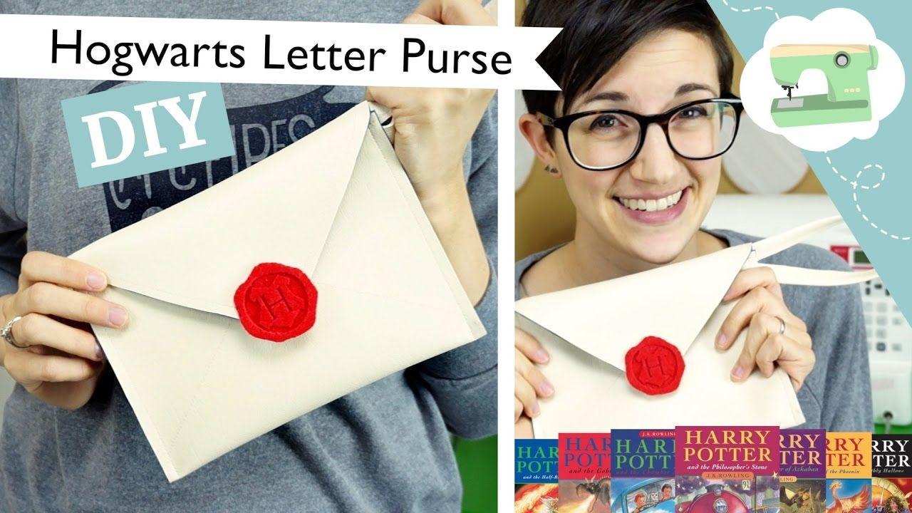 Make a Harry Potter inspired Hogwarts letter wristlet or