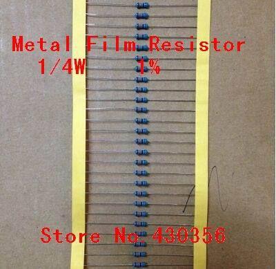 1 Ohm 0,25 Watt  1 /%  Metall Film Widerstände    10 STCK. 1 Ohm