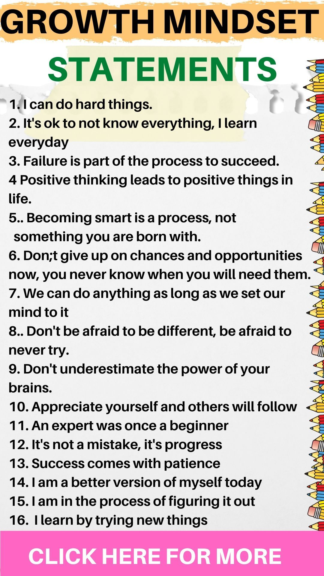 101 Growth Mindset Quotes For Self Belief