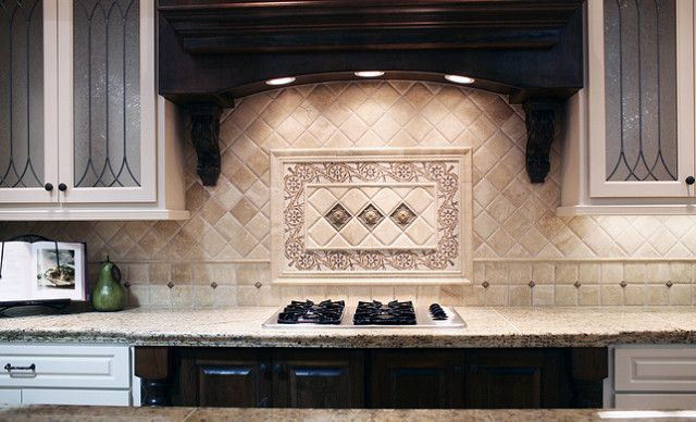 Traditional Travertine Backsplash Traditional Kitchen Backsplash