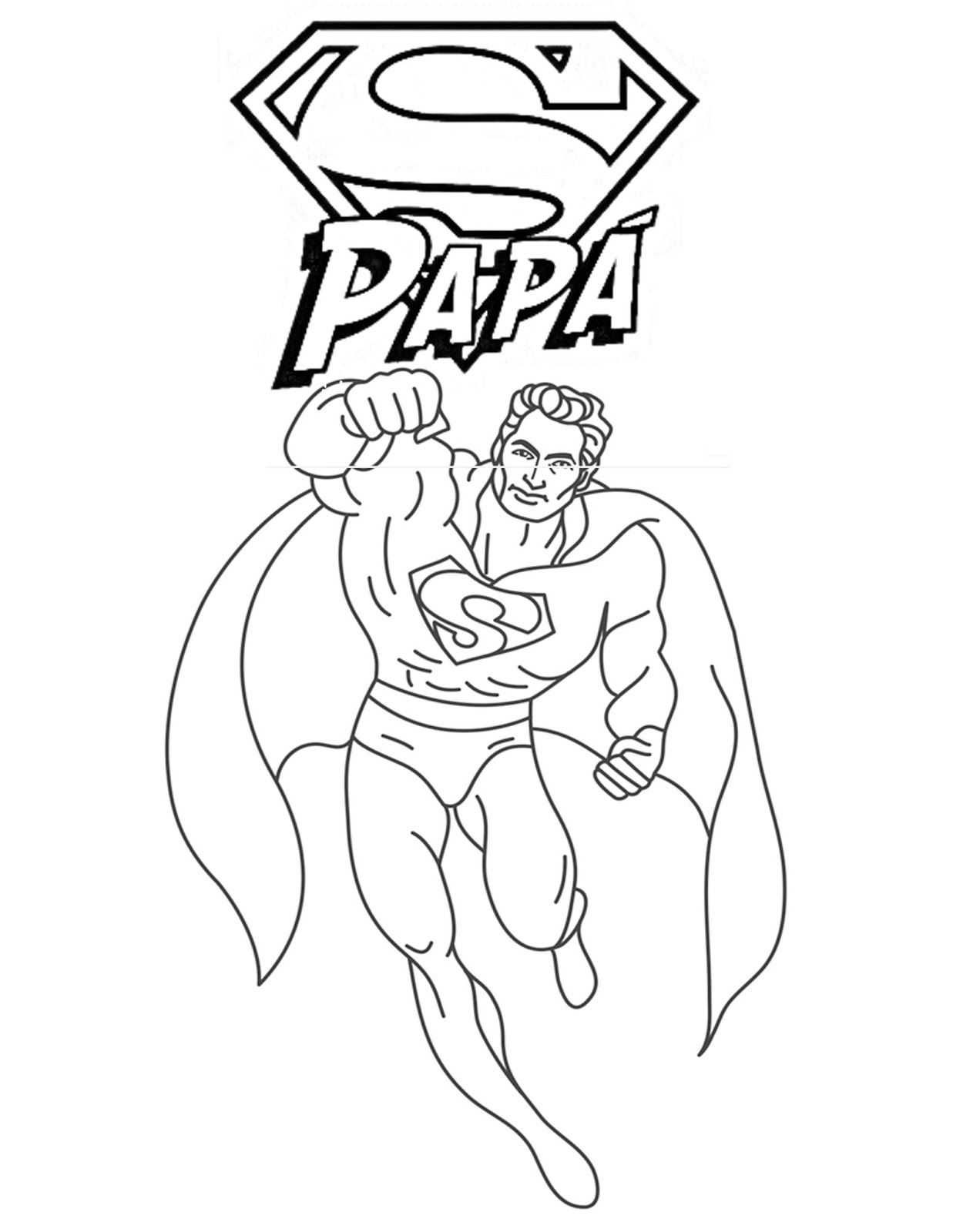 dibujos de super papá para colorear del día del padre | Dibujos para papa,  Dia del padre, Día del papá
