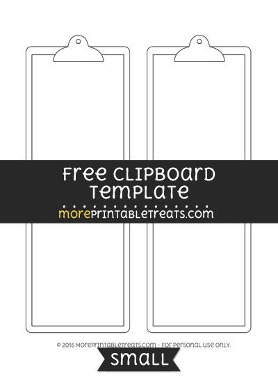 free clipboard template small shapes and templates printables
