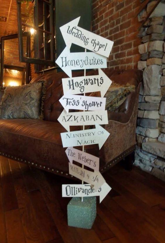 Spellbinding Signage Harrypotter Wedding