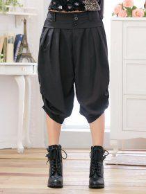 MY780 Plus Size Summer Hip-hop Casual Harem Pants Black