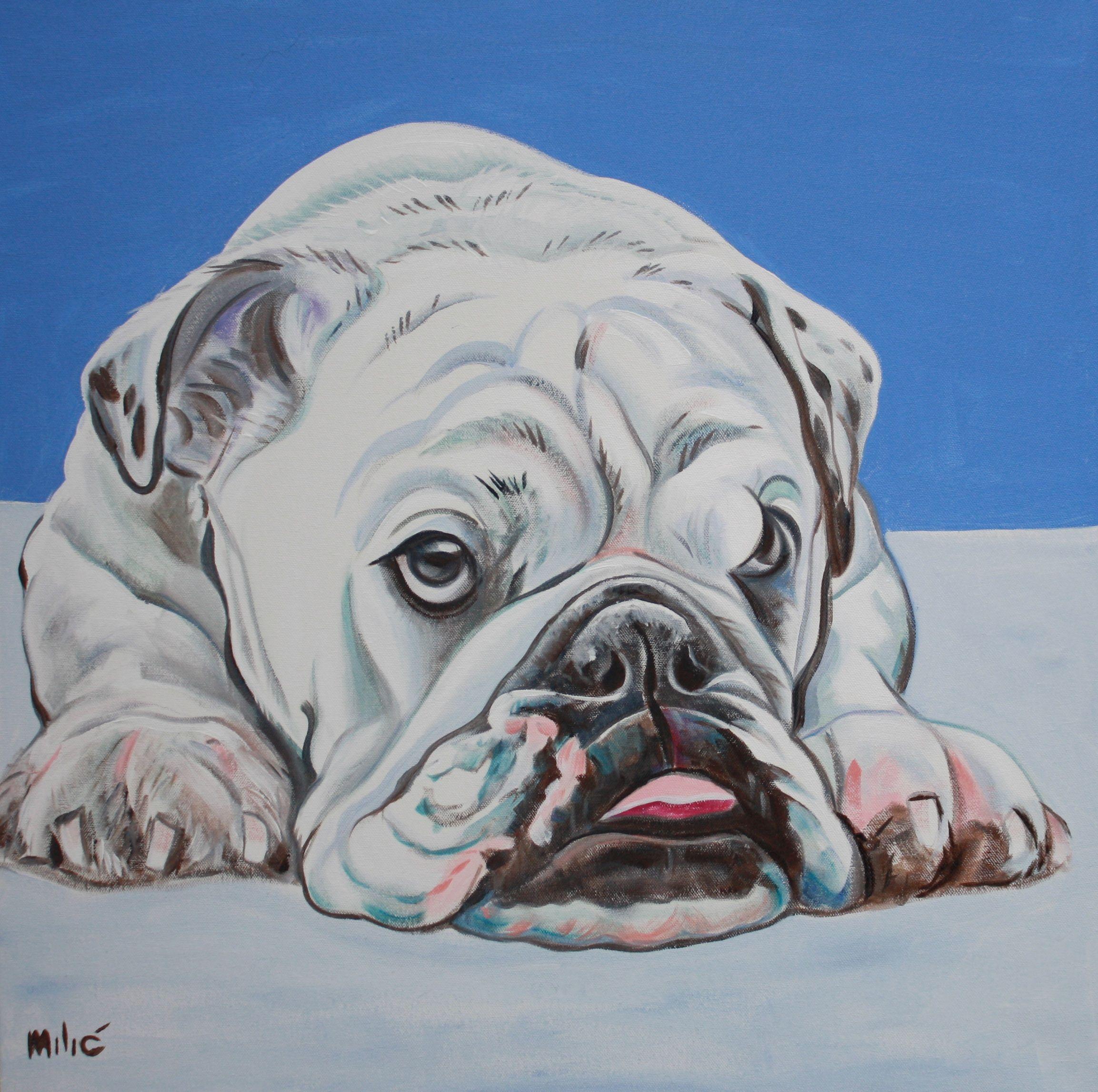 "toni soprano 24x24"" oil on canvas by dragoslav drago milic"
