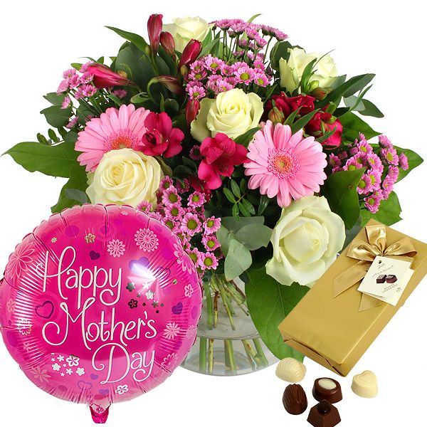 Mothers Day Gift Sets Including Flowers Balloon And