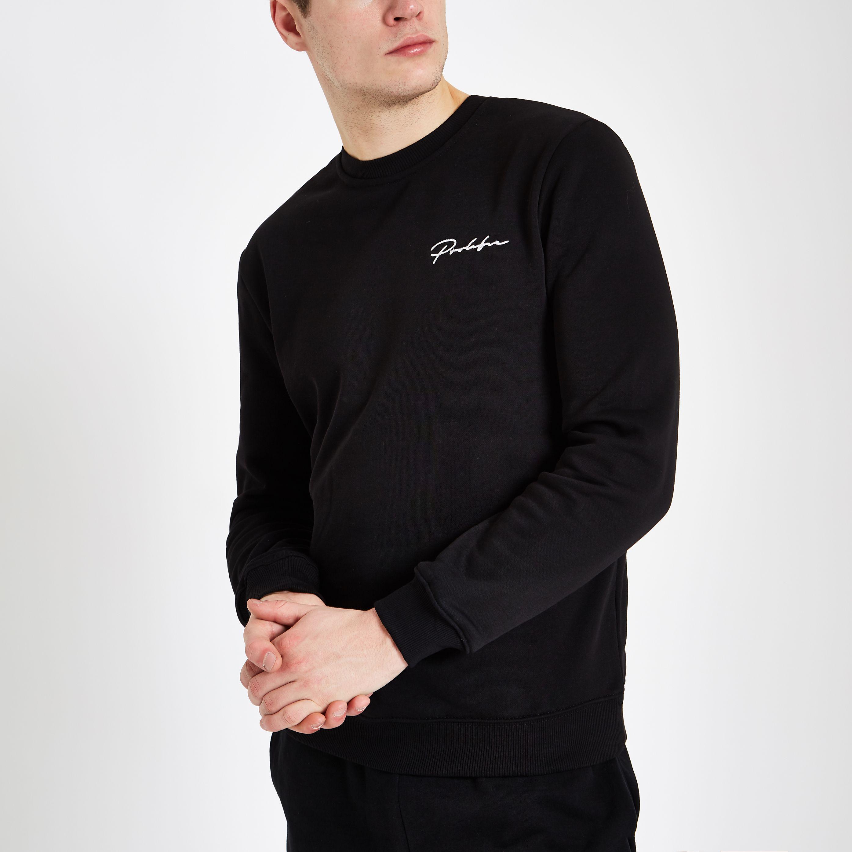 4038e0c08 Mens Black 'Prolific' slim fit sweatshirt | Products in 2019 ...