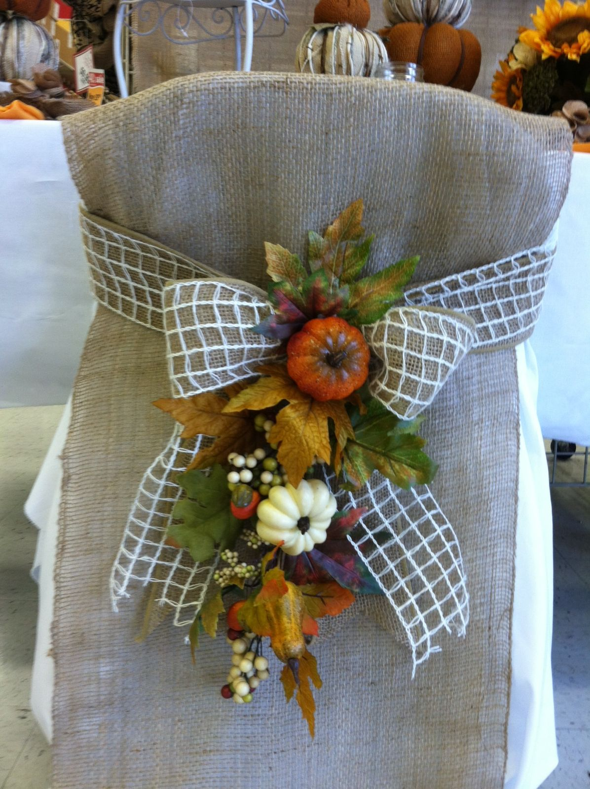 Floral made by Debbie Michaels in Paramus Fall home
