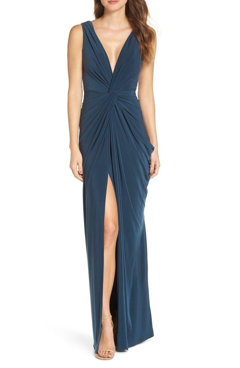 89b6176872e Katie May Leo Twist Front Evening Dress