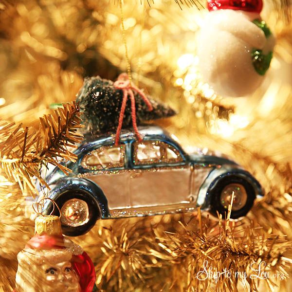 VW Beetle Christmas Ornament - Michael's Dream Tree Challenge VW Holiday Crafts, Christmas Time