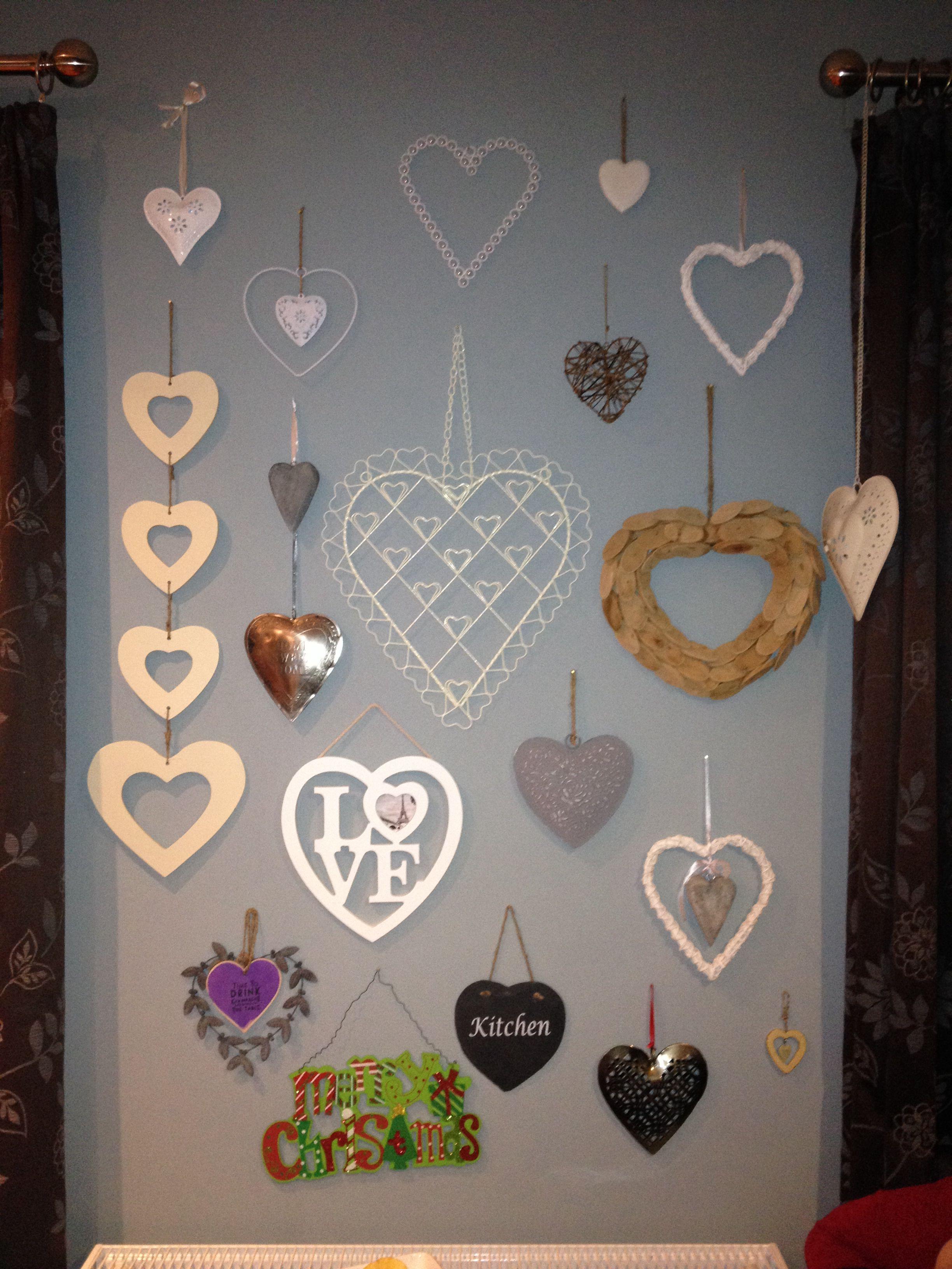 Wall Of Hearts Wall Art Heart Wall Heart Decorations