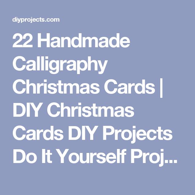 22 Handmade Calligraphy Christmas Cards | DIY Christmas Cards DIY Projects Do It Yourself Projects and Crafts