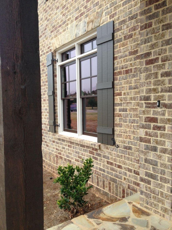 20+ Lovely Exterior Window Shutter Design Ideas | garden ...