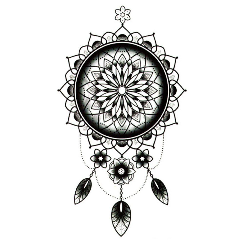 f1327bd5bff51 Yeeech Temporary Tattoos Sticker for Women Fake Mandala Tribal Dream  Catcher Flora Designs Long Lasting Arm Leg Body Art Makeup #Affiliate