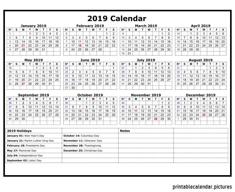 2019 Calendar With Indian Holidays | 2019 Calendar Holidays