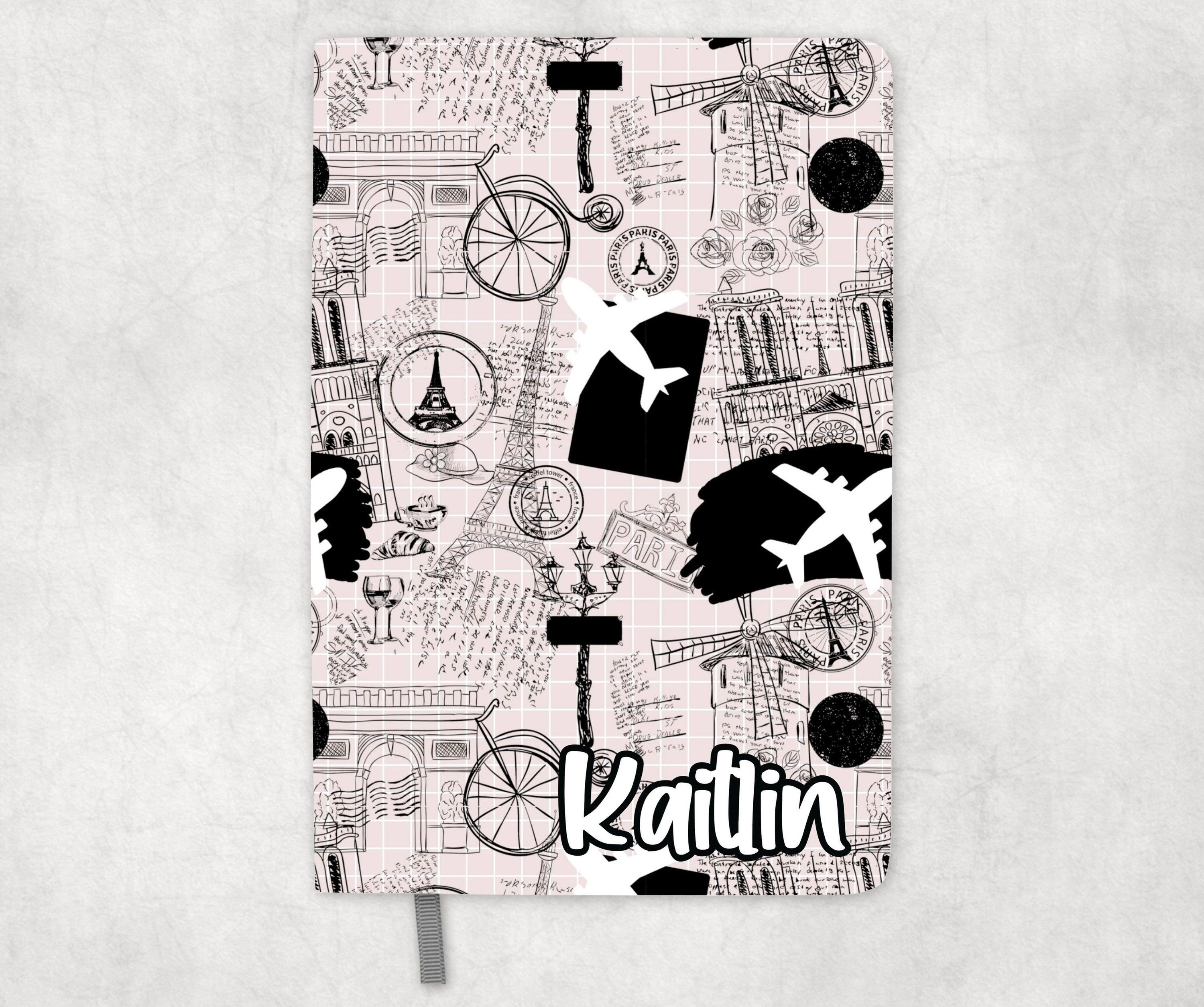 Personalized Europe Travel Journal / Monogrammed Notebook / Personalized Travel Diary