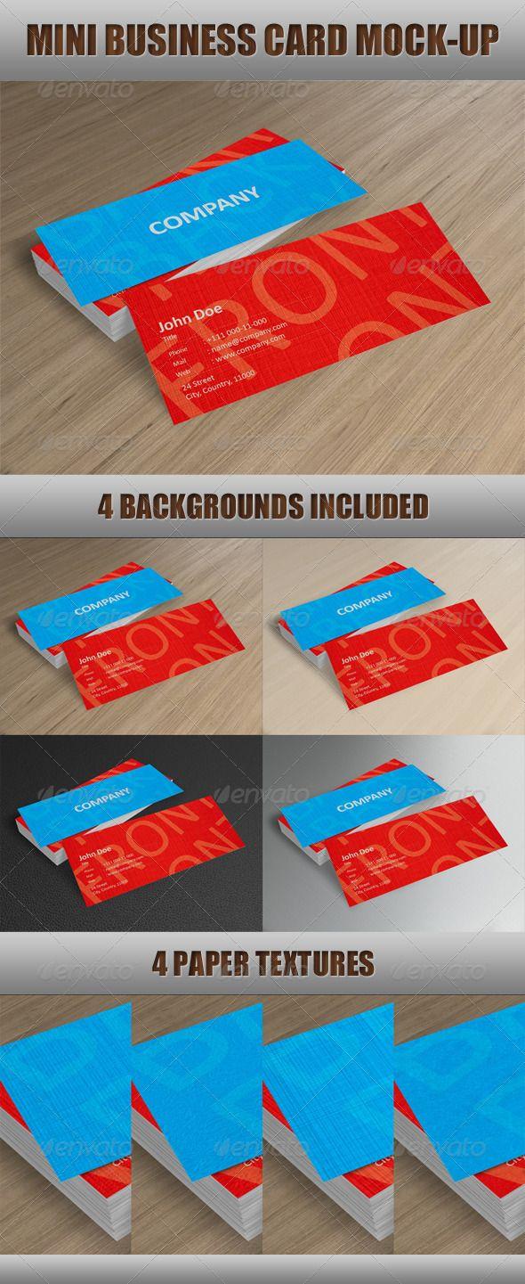 Mini Business Card Mock Up Business Card Mock Up Mini Business Card Mockup