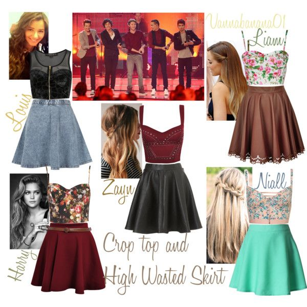 Crop Top & High Waisted Skirt