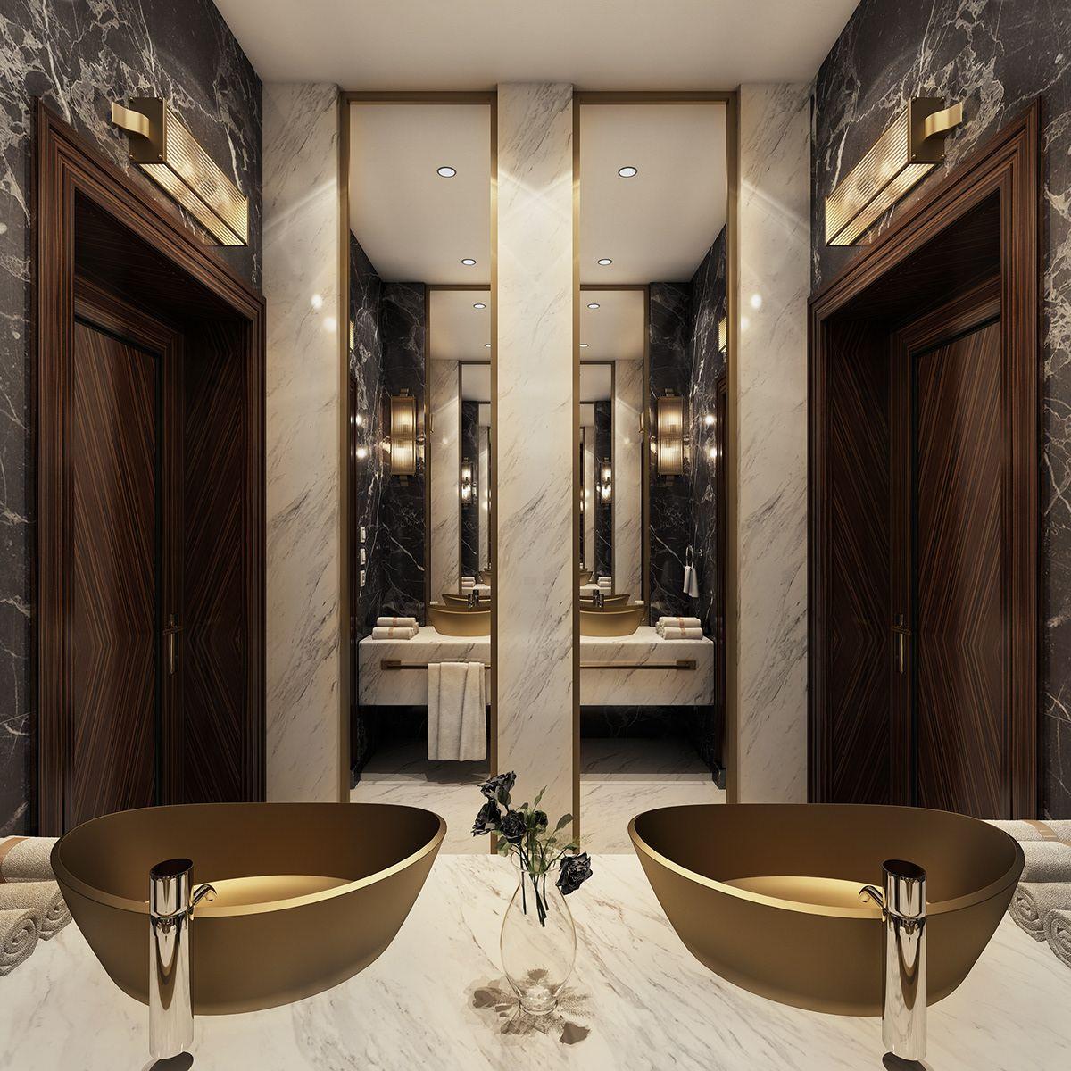 Modern Luxury Bathroom on Behance (With images) | Modern ...
