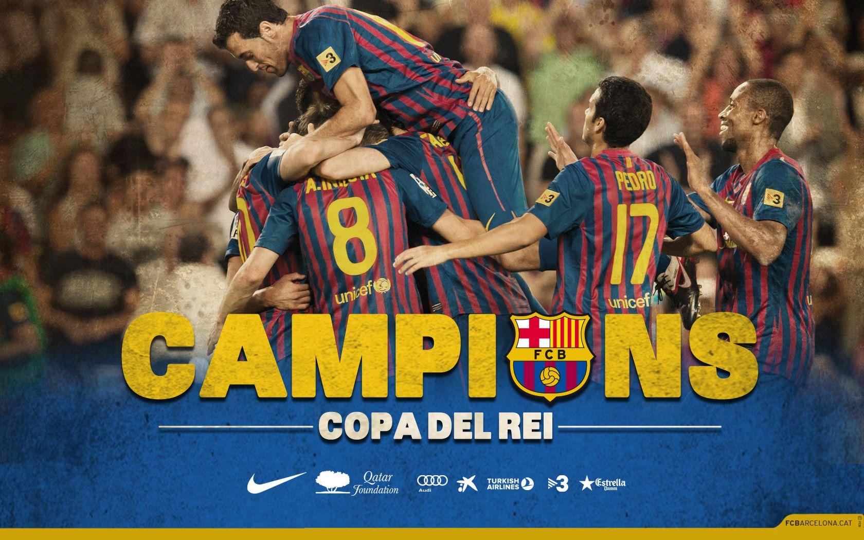 Resultado de imagen de barcelona campeon de copa del rey