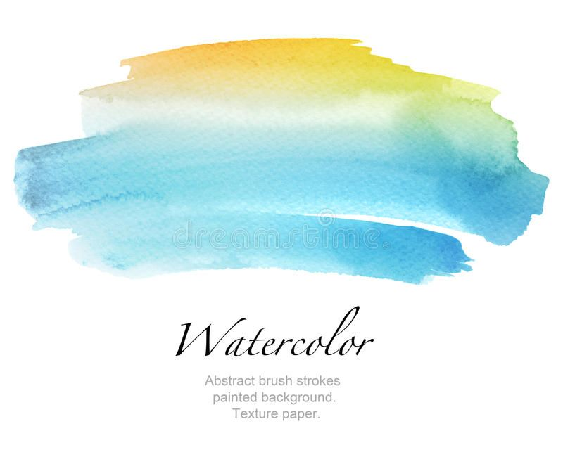 Abstract Watercolor Brush Strokes Painted Background Texture Pa