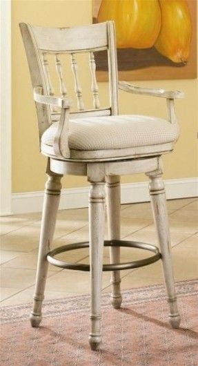 Beautiful Country Style Barstool With A Beige Finished Frame It Features Round Turned Both Tapered Legs And Vertica Dining Stools Bar Stools Swivel Bar Stools