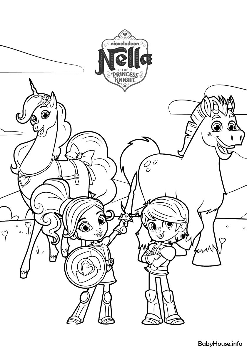 Garrett Trinket Nella And Clod Cartoon Coloring Pages Free