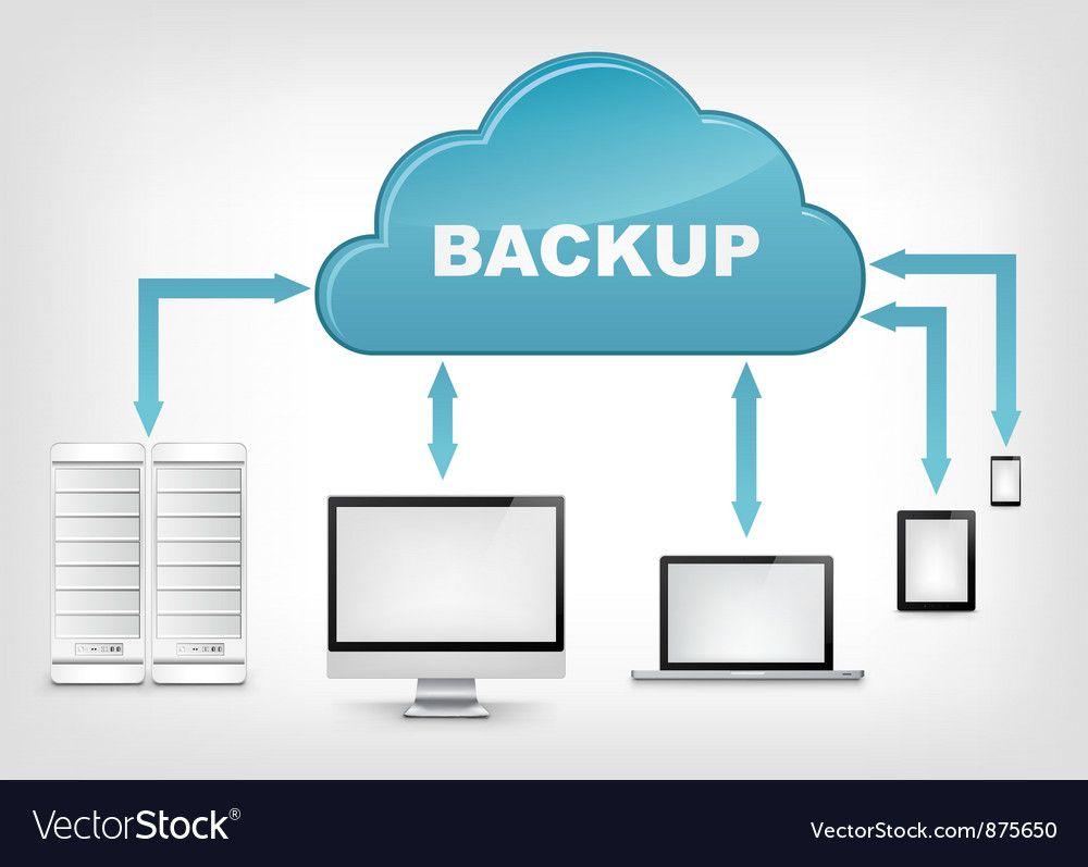 Cloud Service Eps 10 Vector Image On Vectorstock Cloud Backup Data Backup Cloud Services