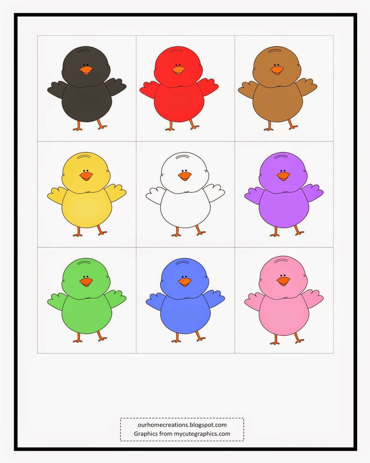 ourhomecreations hens of different colors poem and clip art preschool learning colors. Black Bedroom Furniture Sets. Home Design Ideas