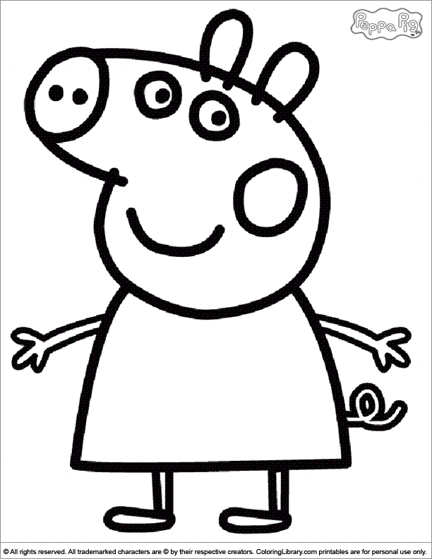 Peppa Pig coloring picture | peppa pig | Pinterest
