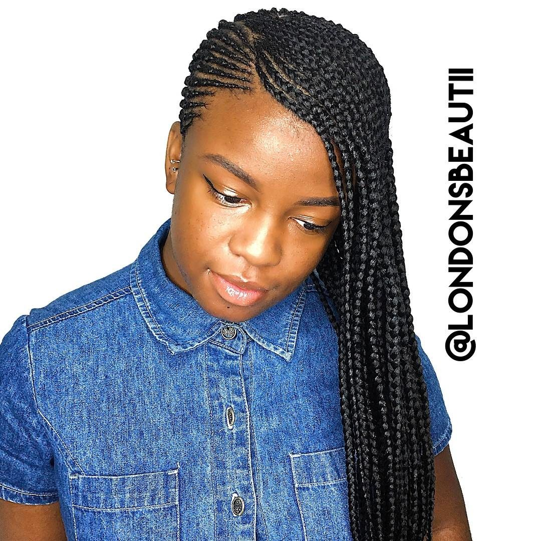 Feedin Cornrows done by London's Beautii in Bowie, Maryland. www.styleseat.com/v/londonsbeautii
