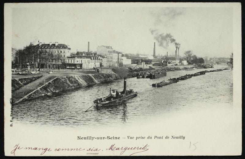 Vue Prise Du Pont De Neuilly A Neuilly Sur Seine Neuilly Sur
