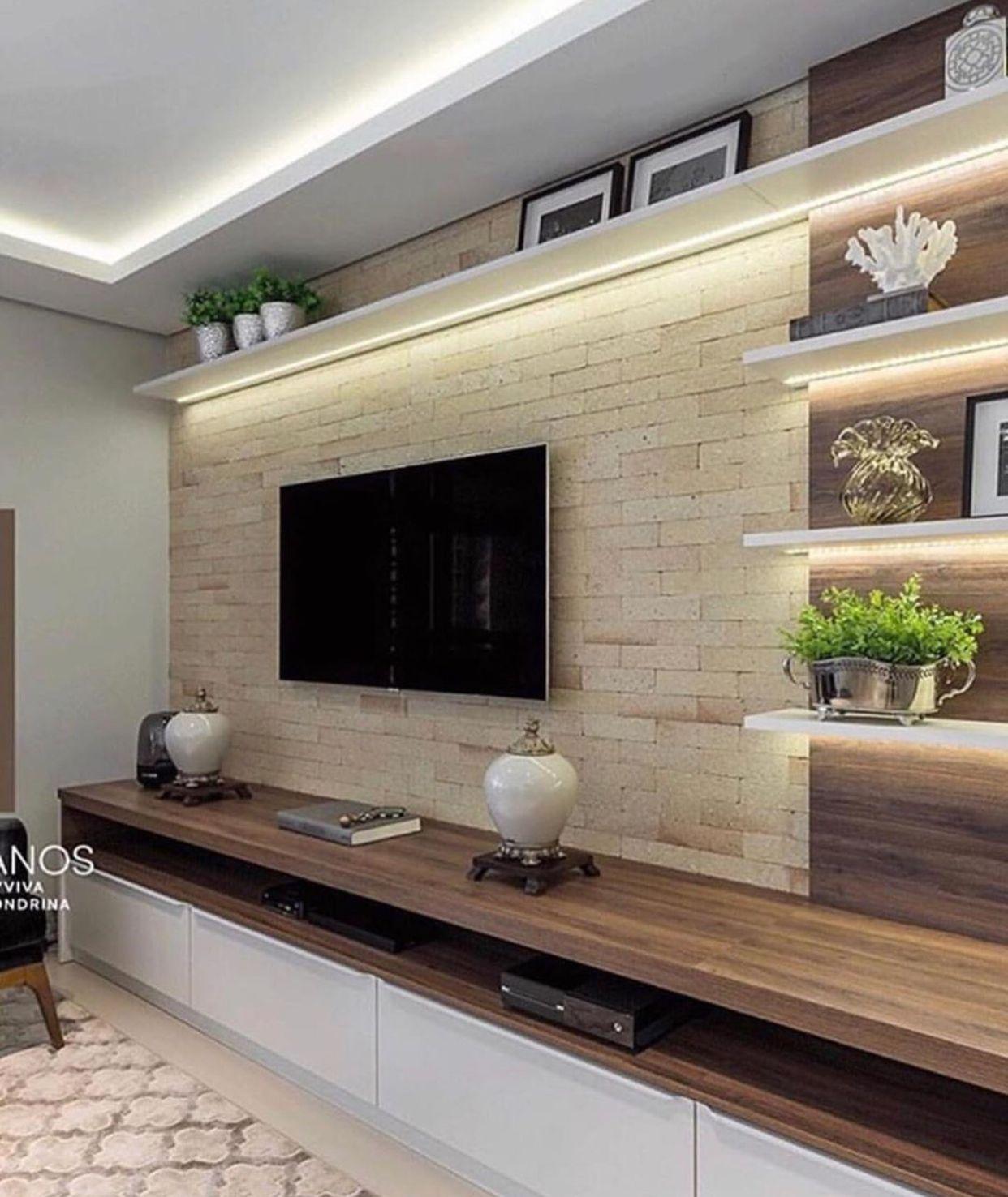 Pin By Demetrio Ipurre On Minimalistic Apartment Living Room Tv Wall Living Room Tv Living Room Tv Unit