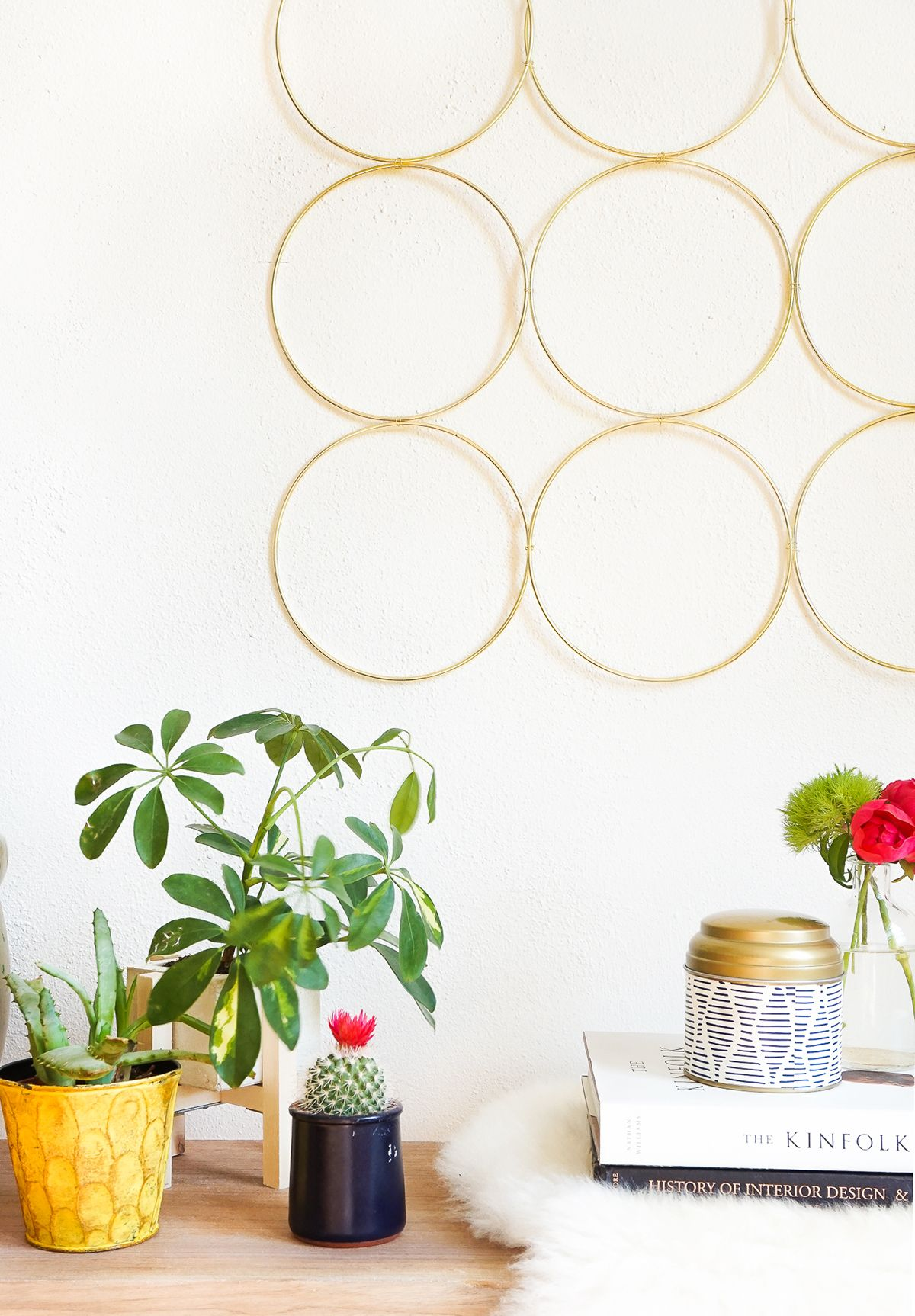 Diy brass ring wall decor wall décor walls and diy wall