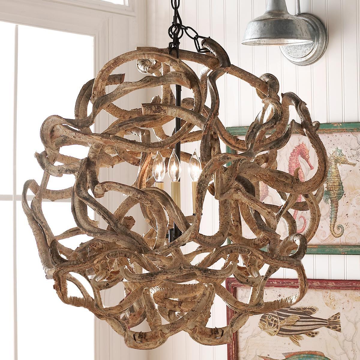De Vine Wood Ball Chandelier An Imaginative Surprise In