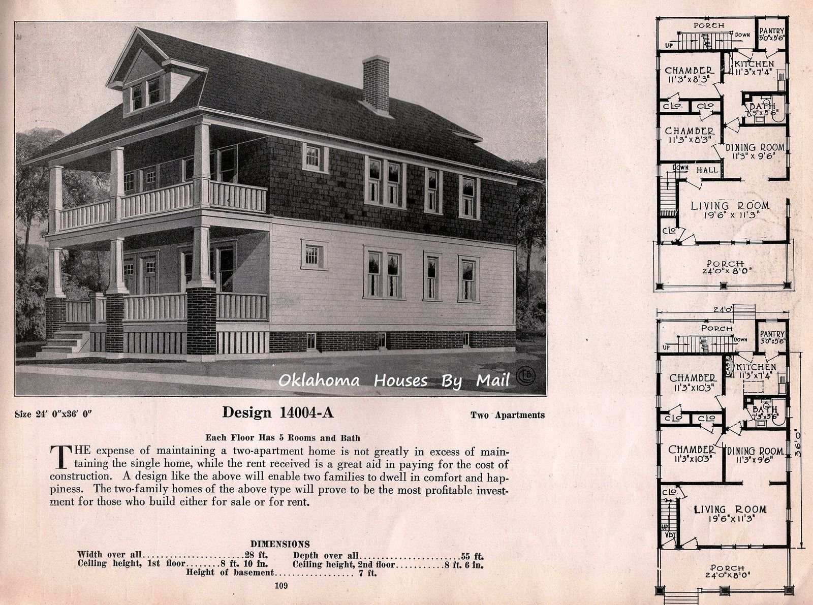 Brown Company Homes Of Portland Maine By Ffshoe Architectural Floor Plans Vintage House Plans New House Plans