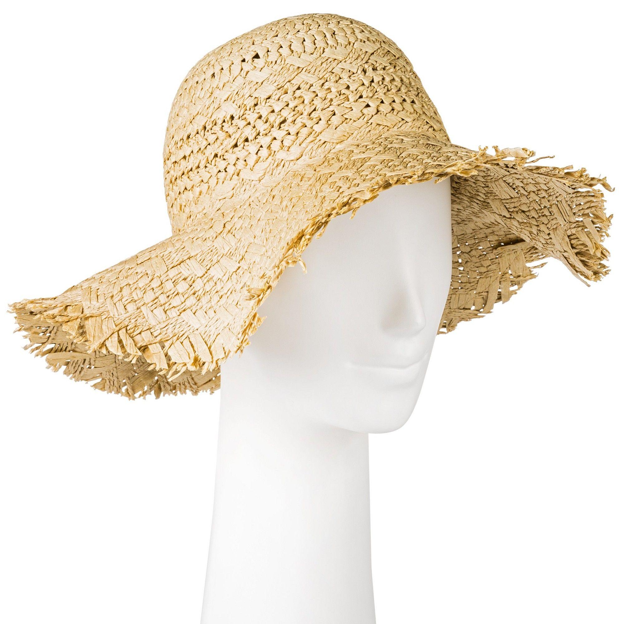 8160c5308fd Women s Textured Fringe Floppy Hat - Merona