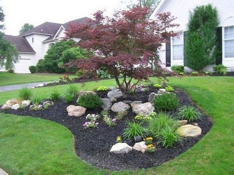 23+ Beauty Charming Large Yard Landscaping Design Ideas
