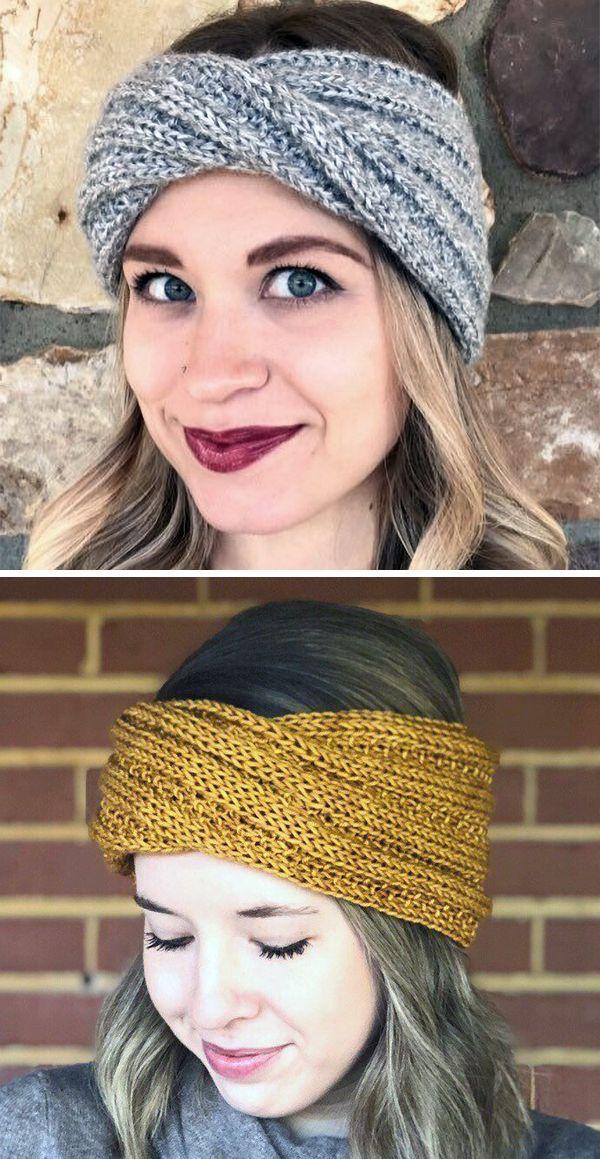 Knitting Pattern for Easy Serenity Turban Headband - Easy ...