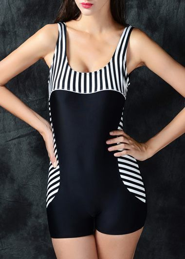 Open Back Striped One Piece Swimwear on sale only US$31.00 now, buy cheap Open Back Striped One Piece Swimwear at lulugal.com