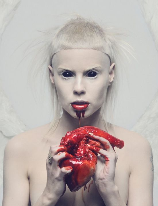 Yolandi Visser.  Die Antwoord is an overtly satanic act being pushed by the illuminati music industry.