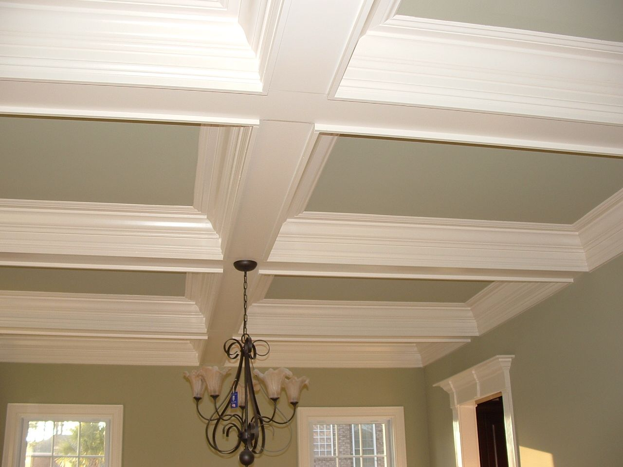 Crown Molding Vaulted Ceiling With Beams Ceiling Trim