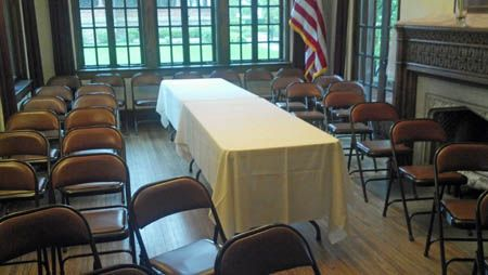 Elliott House with group seating for a meeting