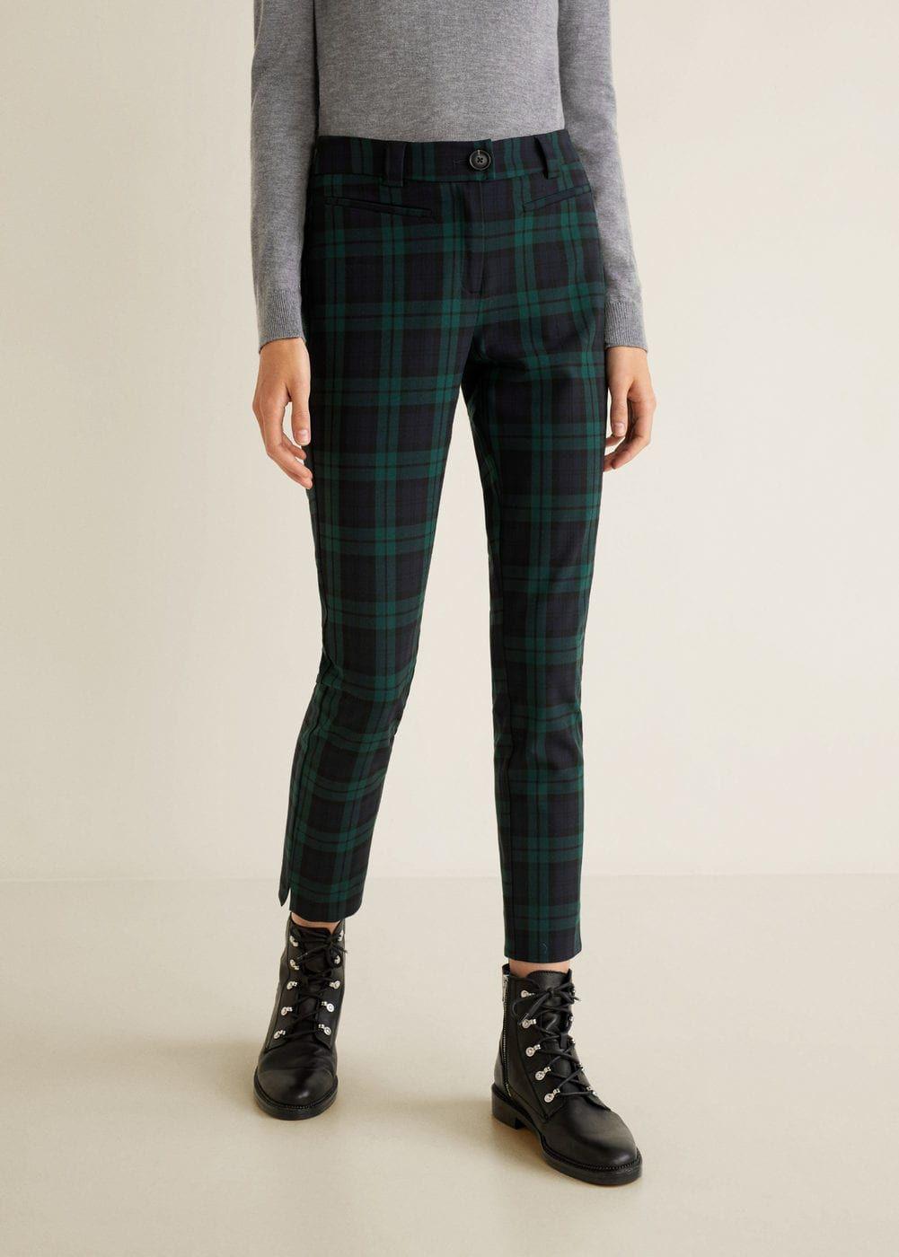 Straight checked pants - Women | Pantalones de cuadros, Pantalones