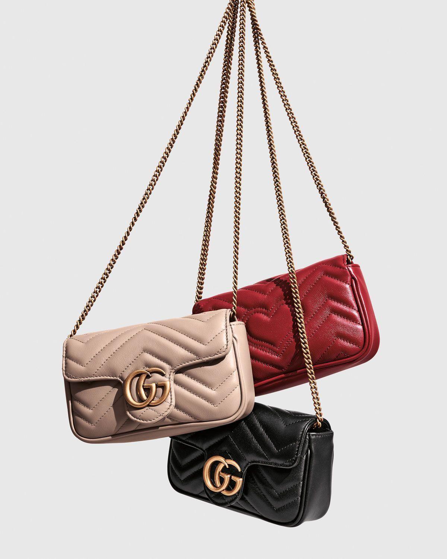 991b1cfcf296 Gucci GG Marmont Matelassé Leather Super Mini Bag #Guccihandbags ...