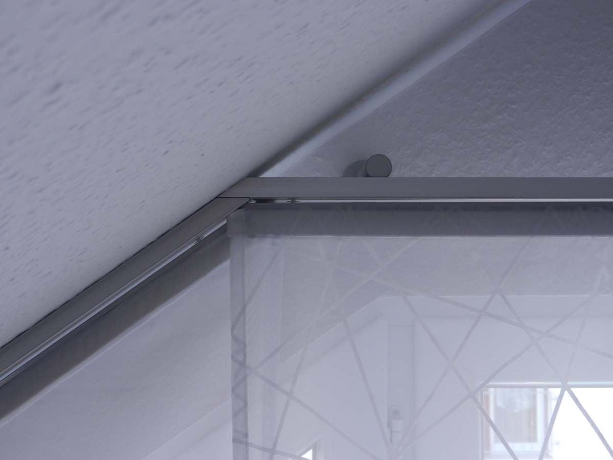 hobby handwerk inserat fl chen vorhang f r dachschr ge und schr ge fenster zu hause. Black Bedroom Furniture Sets. Home Design Ideas