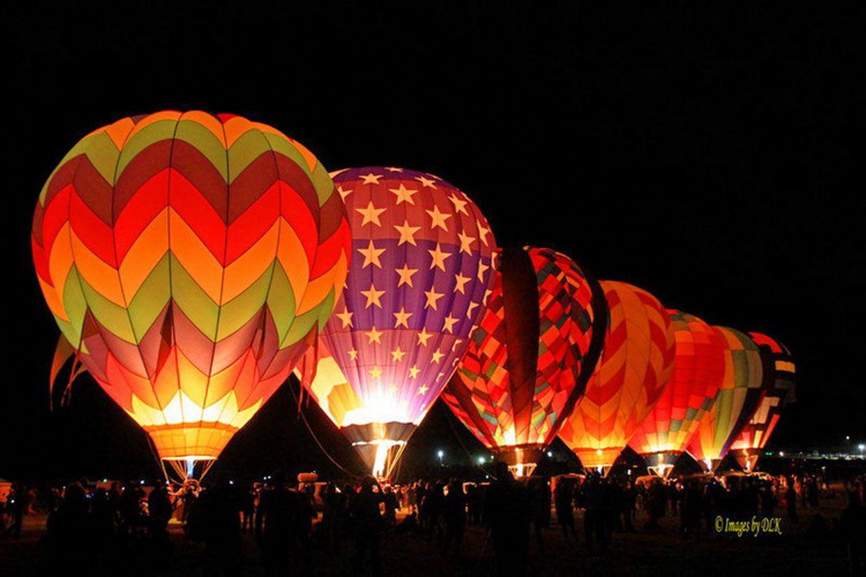 Lighted Balloons Hot Air Balloon Festival Air Balloon Hot Air Balloon